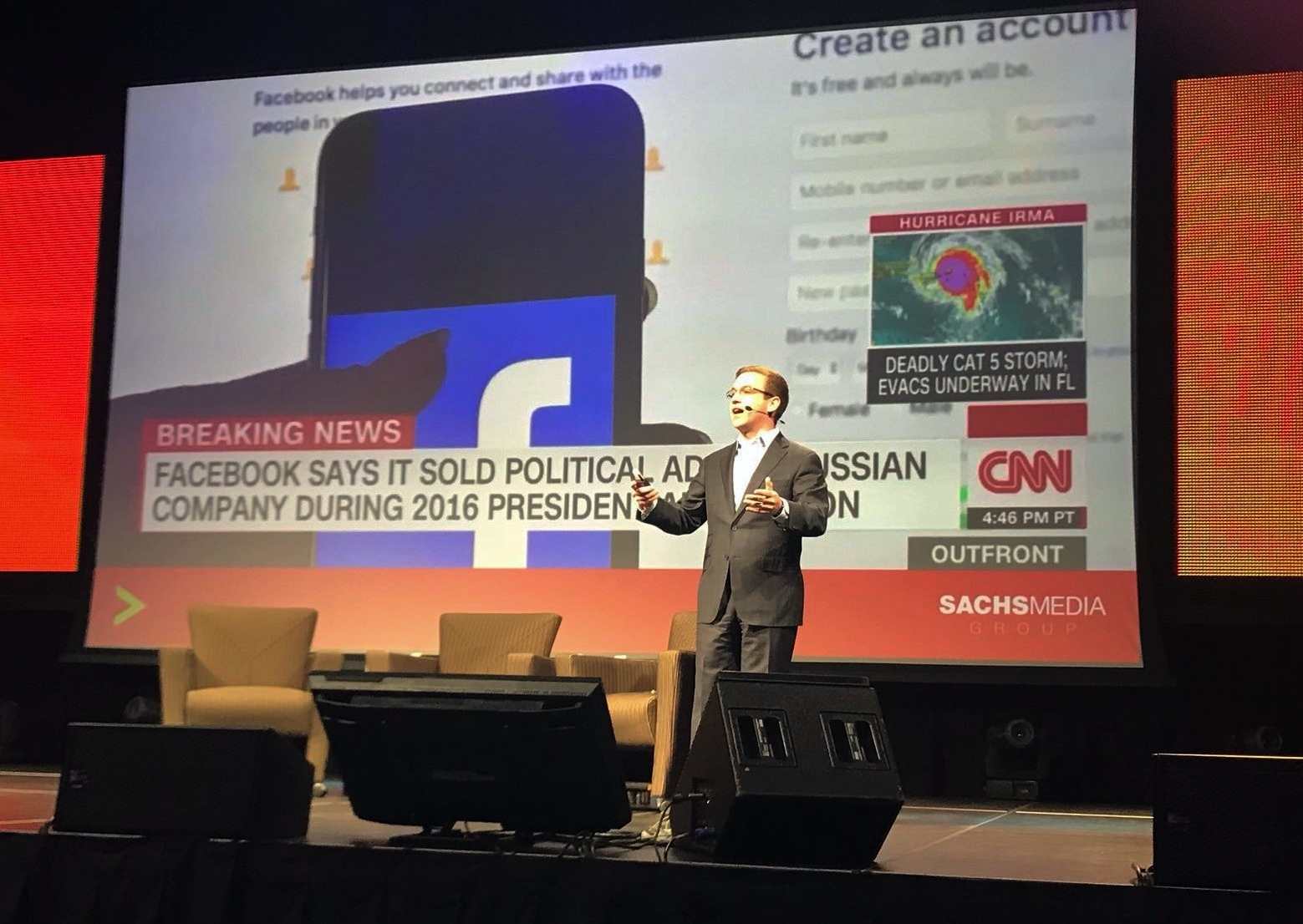 Ryan Cohn gives presentation on Facebook crisis